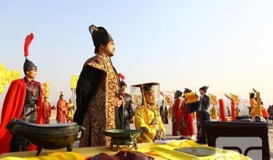 """大明宫国家遗址公园冬至日再现""""祭天大礼"""""""