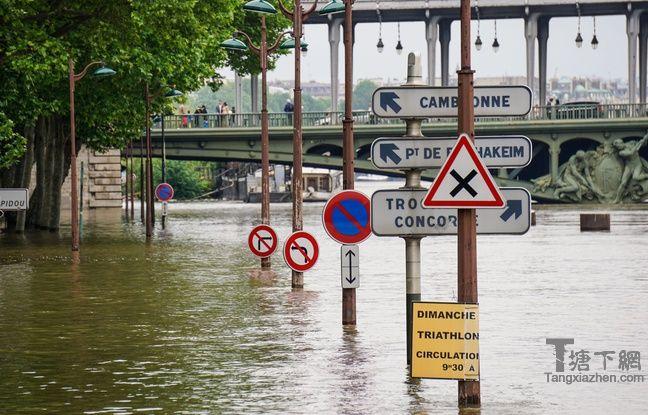 La Sein en crue, à Paris, le 4 juin 2016.