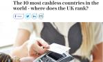 世界十大无现金国家:中国第六 日本第九 (表)